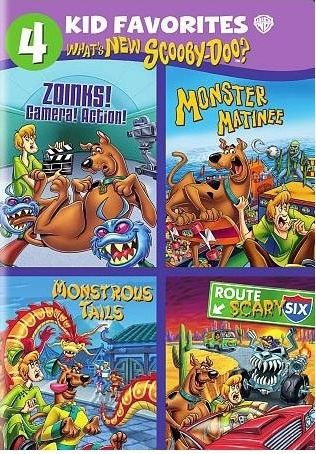 4 Kid Favorites: What's New Scooby-Doo?: Zoinks! Camera! Action! / Monster Matinee / Monstrous Tails / Route Scary Six