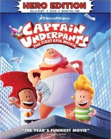 Captain Underpants: The First Epic Movie -blu